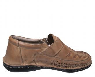 Мъжки обувки бежови естествена кожа 3