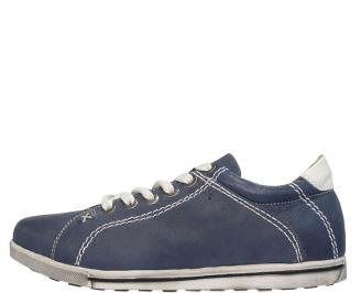 Спортни мъжки обувки естествена кожа сини