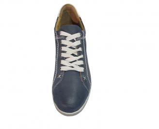Спортни мъжки обувки естествена кожа сини 3