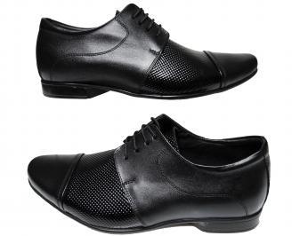 Мъжки обувки черни естествена кожа