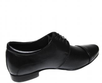 Мъжки обувки черни естествена кожа 3