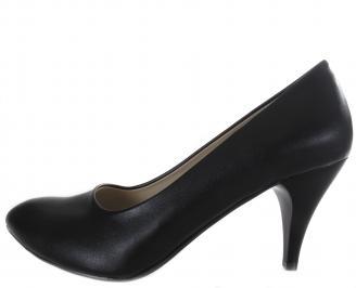 Дамски обувки на ток-Гигант черни еко кожа