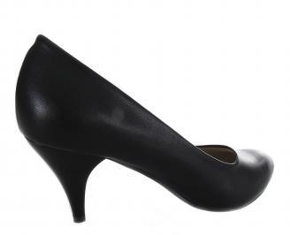 Дамски обувки на ток-Гигант черни еко кожа 3