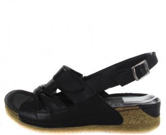 Дамски сандали-Гигант черни еко кожа