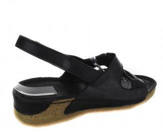 Дамски сандали-Гигант черни еко кожа 3