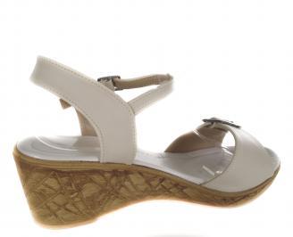 Дамски сандали-Гигант бежови еко кожа 3