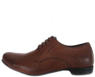 Мъжки официални обувки кафяви естествена кожа