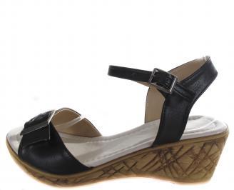Дамски сандали Гигант черни еко кожа