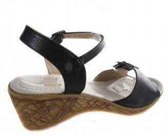 Дамски сандали Гигант черни еко кожа 3