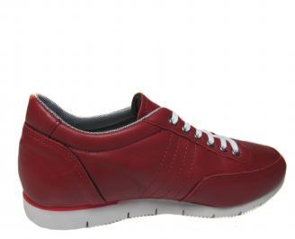 Мъжки спортни обувки червени естествена кожа 3