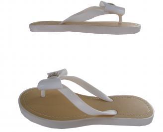 Дамски силиконови чехли бели