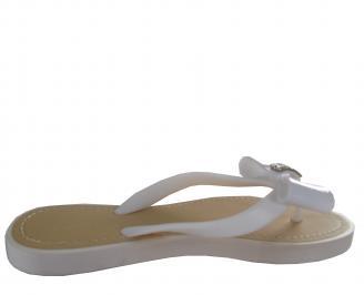 Дамски силиконови чехли бели 3
