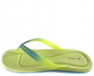 Дамски  чехли зелени
