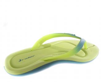 Дамски  чехли зелени 3